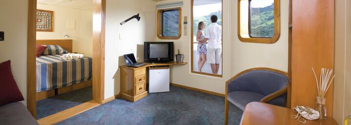 "Beispiel Tabua-Suite - Kreuzfahrtschiff ""MV Reef Endeavour"" Captain Cook Cruises"