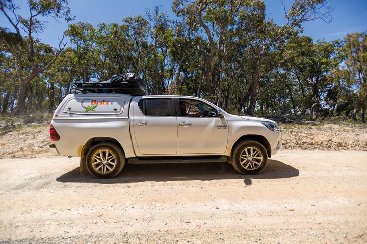 Außenansicht des Britz Outback 4WD
