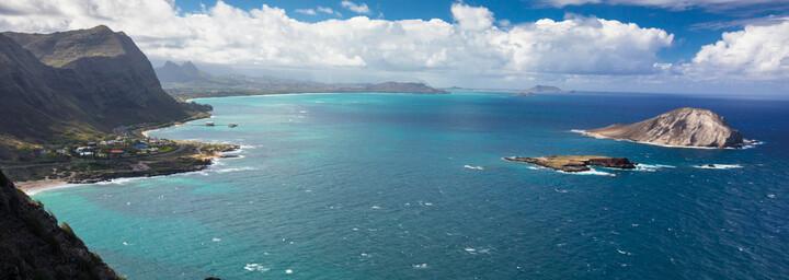 Blick aufs Meer von der Insel Oahu