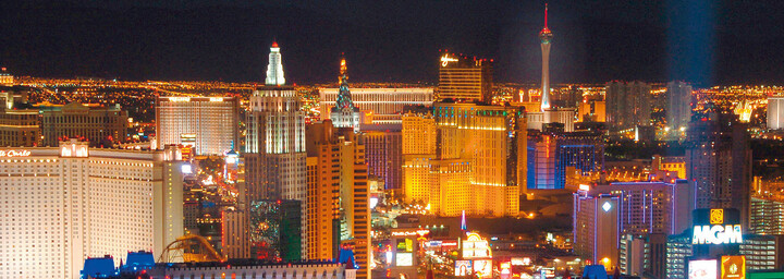 Strip Las Vegas bei Nacht