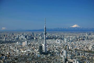 Blick auf Tokyo und den Fuji von Aussichtsplattform - Reisebericht Japan