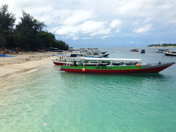 Bali Reisebericht - Gili Trawangan Strand und Boote
