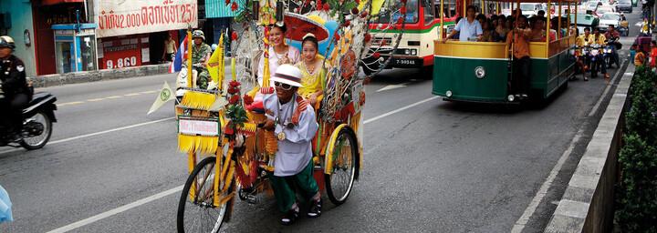 Rikschafahrer in Bangkok
