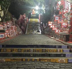 Treppen von Lapa in Rio de Janeiro