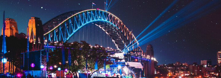 Harbour Bridge  während des Vivid Sydneys