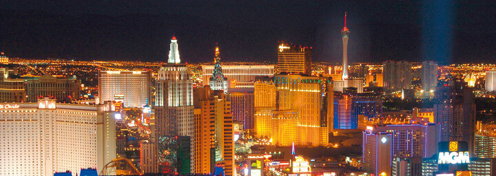 Las Vegas Skyline bei Nacht