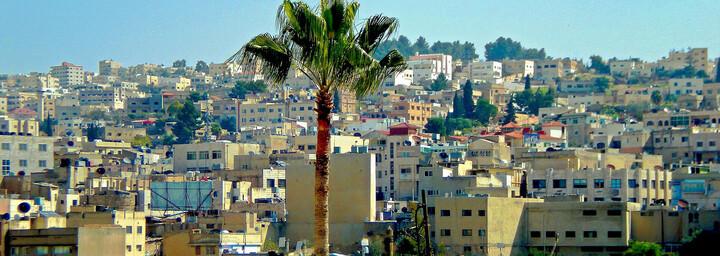 Blick auf die Stadt Amman in Jordanien