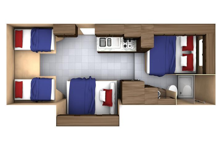 Floorplan bei Nacht des MH-B Midi Motorhome