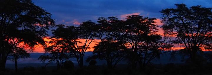 Kenia Reisebericht - Sonnenuntergang am Lake Nakuru