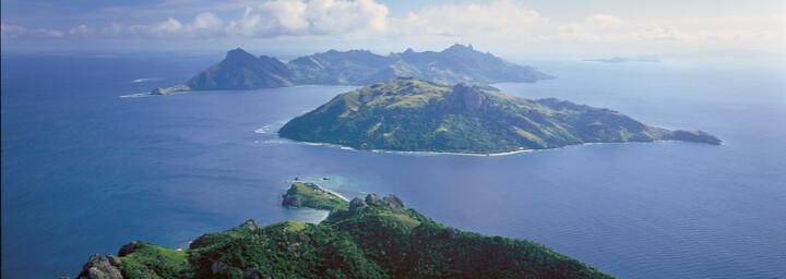 Ausblick auf die Fiji Inseln