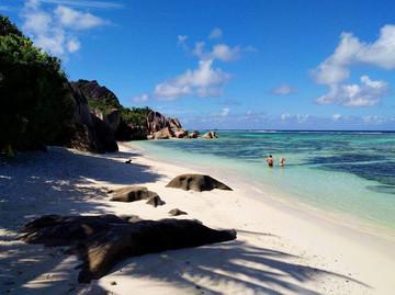 Seychellen Reisebericht - Strand Anse Source D'Argent