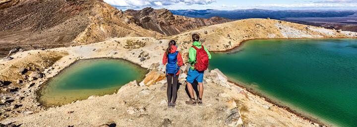Tongariro Nationalpark Wanderer