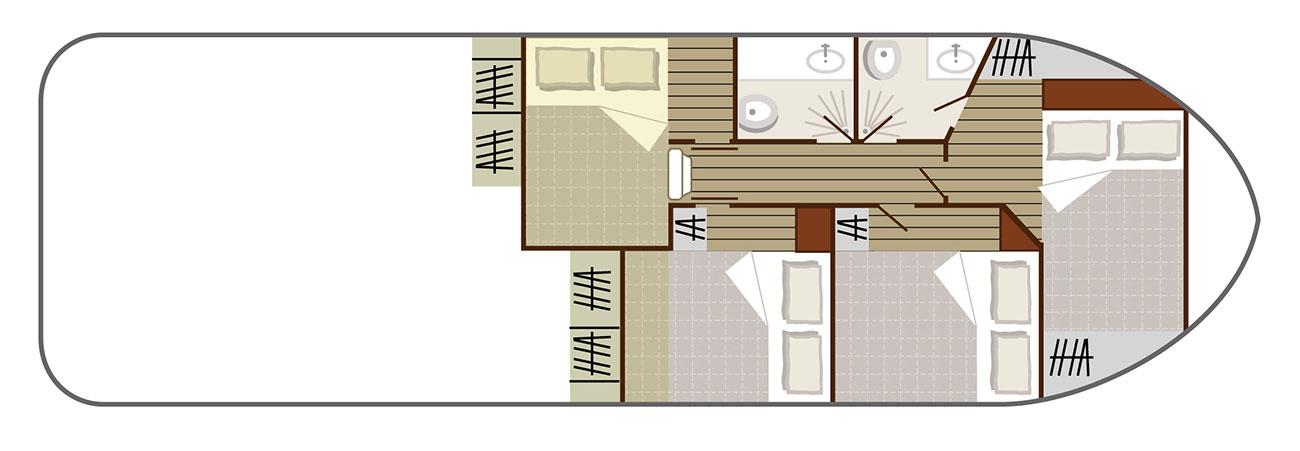 Nicols Hausboote Sedan 1170 Plan