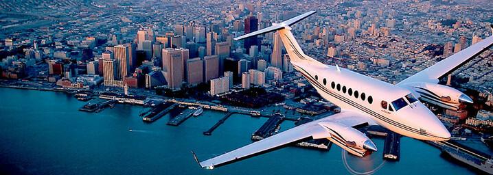 Flug über San Francisco