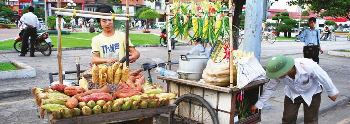 Reisebericht Vietnam - Streetfood-Stand in Ho Chi Minh City