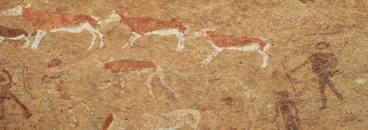 Felsmalereien in Namibia