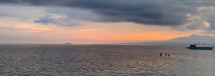 Sonnenuntergang am Paliton Beach auf Siquijor