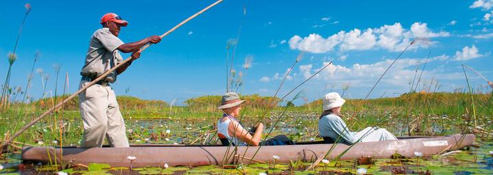Bootstour durch das Okavango Delta in Botswana