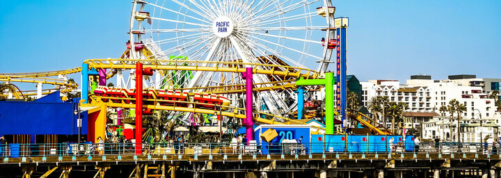 Santa Monica Pier Riesenrad, Los Angeles, Kalifornien