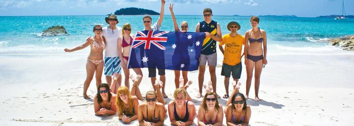 Whitehaven Beach Reisegruppe