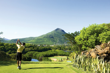 Golfplatz auf Mauritius