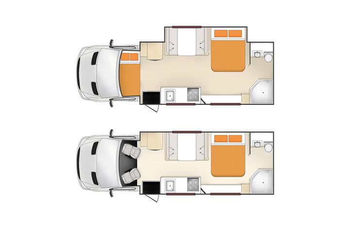 Floorplan des Pegasus RV