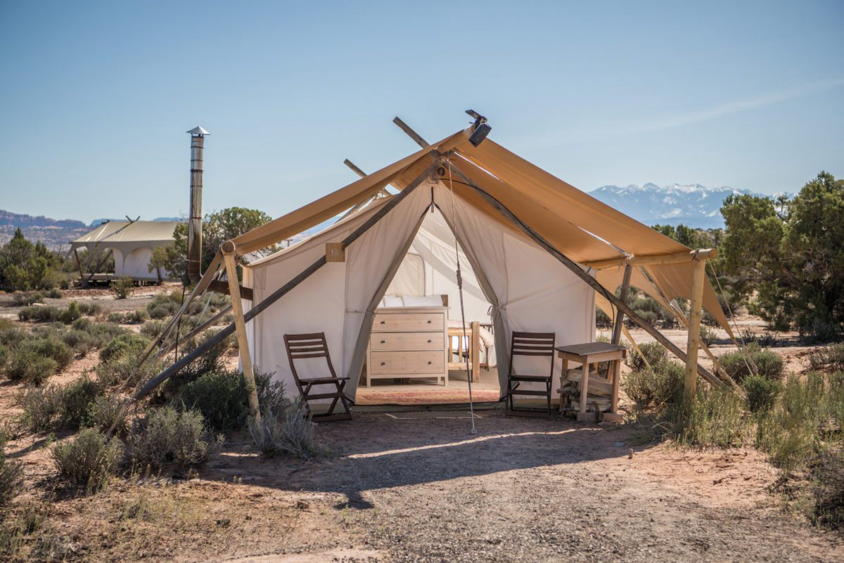 Safari Zelt des Moab Under Canvas©