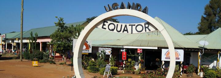 Äquator in Uganda