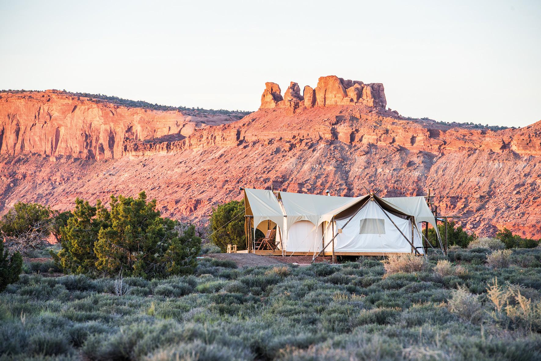 Suite Zelt des Moab Under Canvas©