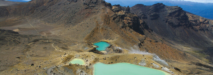 Emerald Lakes im Tongariro Nationalpark