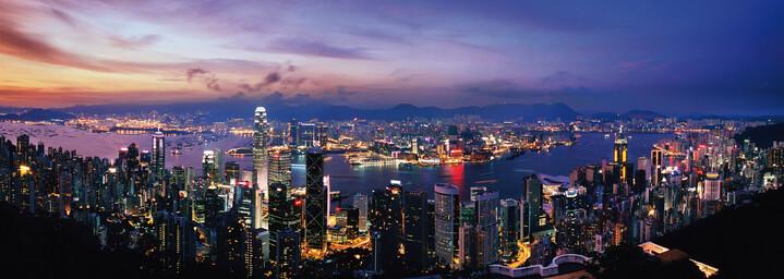 Blick auf Hongkong von dem Peak Aussichtspunkt