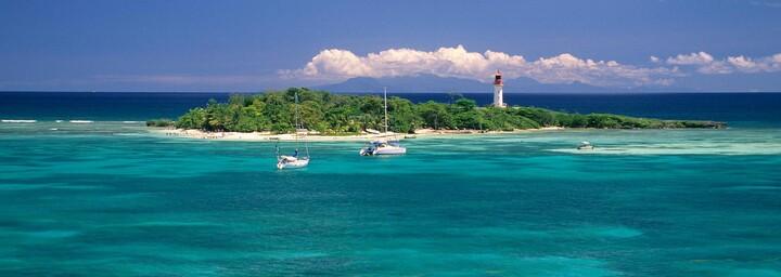 Guadaloupe kleine Insel im Meer