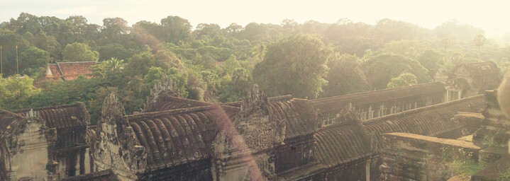 Ausblick auf den Dschungel um Angkor Wat