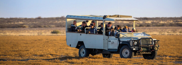 Pirschfahrt im Kalahari Game Reserve