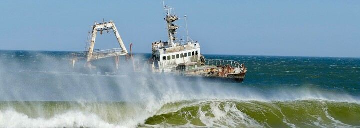 Skelettküste - Schiffswrack