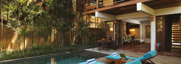 Pool-Villa Beispiel des Jeeva Klui Resort auf Lombok