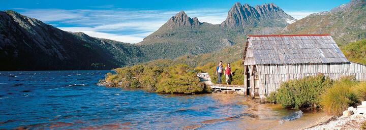 Cradle Mountain Hütte am Wasser