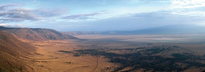 Blick über den Ngorongoro Krater