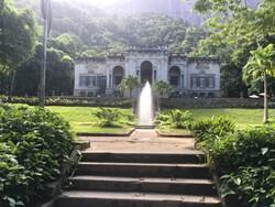 Brunnen im Botanischen Garten von Rio de Janeiro