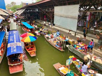 Damnoen Saduak Schwimmender Markt Bangkok