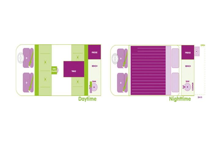 Floorplan des Jucy Cabana