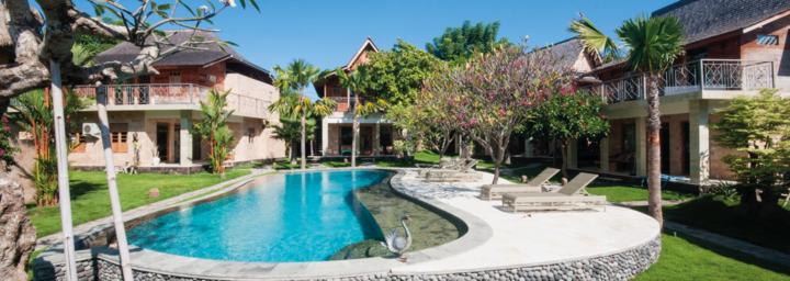 Poolbereich im Sun Suko Boutique Retreat auf Bali
