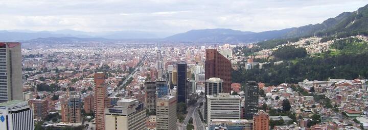 Blick auf Bogota