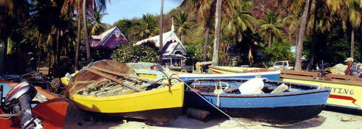 Fischerboote Karibik