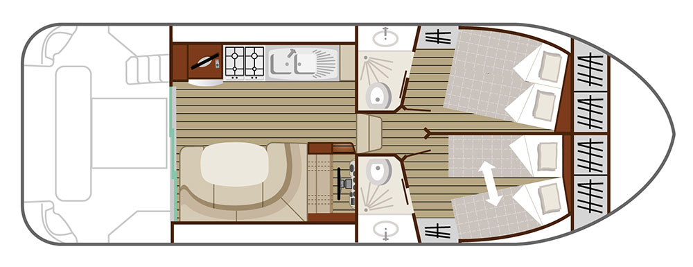 Nicols Hausboote Estivale Quattro B Plan