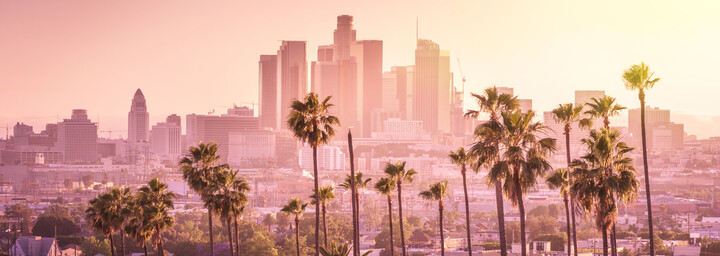 Los Angeles bei Sonnenuntergang