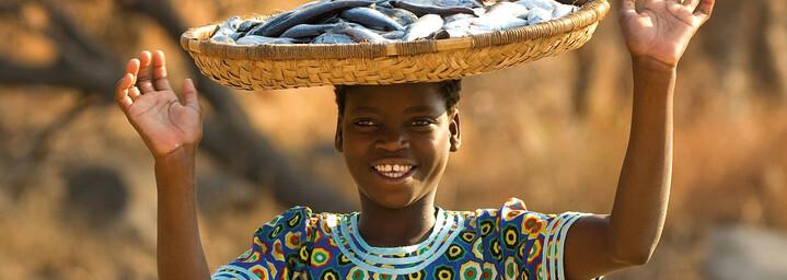 Mädchen in Malawi