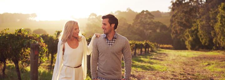 Weingebiet Margaret River Paar