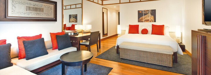 Deluxe-Rainforest-Zimmerbeispiel des The Andaman - A luxury Collection Resort auf Langkawi