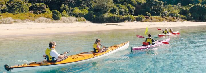 Kayaken an der Bay of Islands